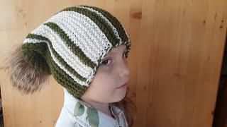 Хитрая шапка БИНИ. Расчет петель, вязание, сшивание шапки.