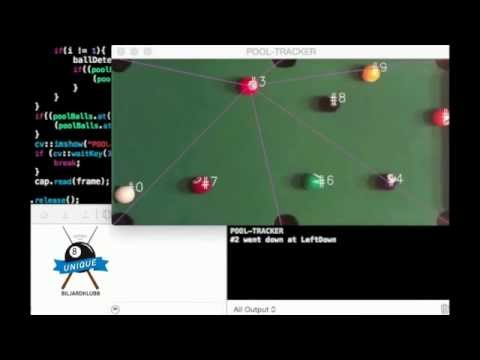 Pool detection and path identification with OpenCV