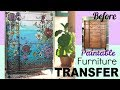 How to create an Ombre paint finish & Rub on  Furniture Transfer