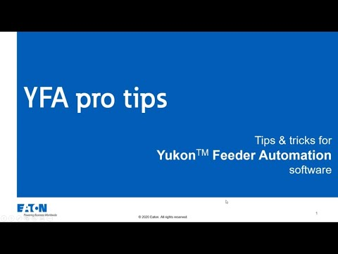 YFA Pro Tips:  New features available in 2.4R1, Part 1