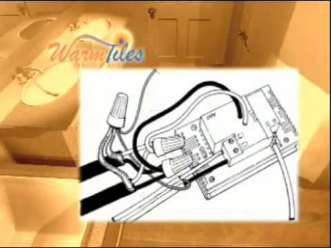 hqdefault warm tiles installation 240v thermostat wiring youtube schluter ditra heat wiring diagram at eliteediting.co