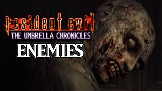 Resident Evil Umbrella Chronicles - All Enemies Compilation [Wii]