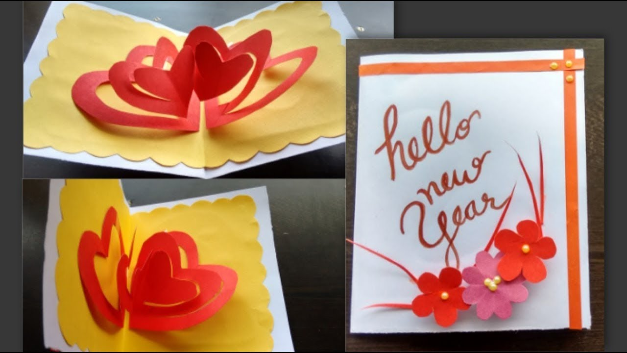 New Year Greeting Card Design Handmade Cards Youtube
