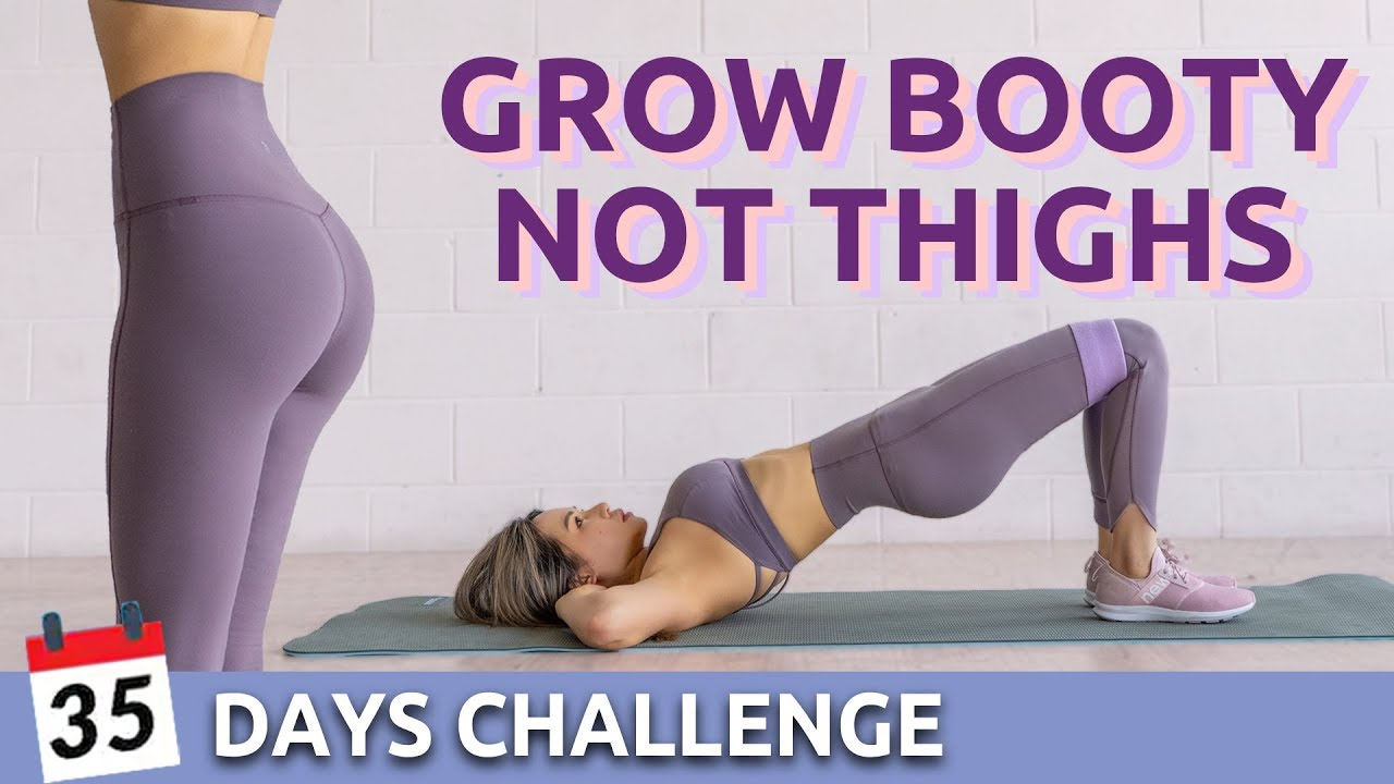 35 days Booty Challenge 🍑 With or Without Resistance Bands