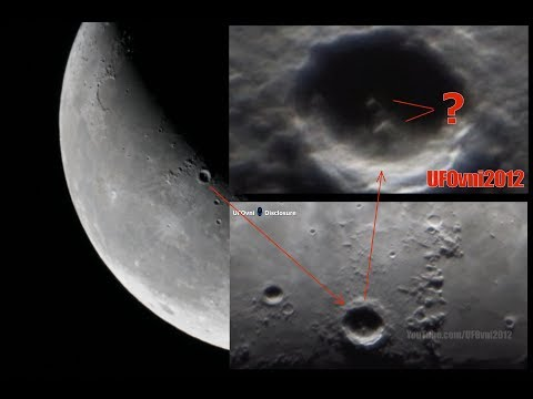 Structures or UFOs? On Copernicus (Lunar Crater) Captured by My telescope, Oct 14, 2017 (Video 4K)