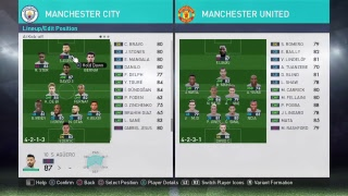 PES 2018 - Best Formation & Tactics for Manchester City