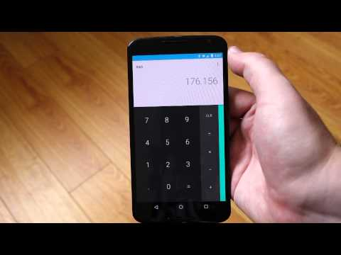"""New calculator feature in Android """"M"""" - slide to adjust decimal place"""