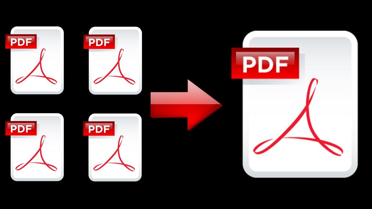 وضع ملفات pdf في ملف واحد