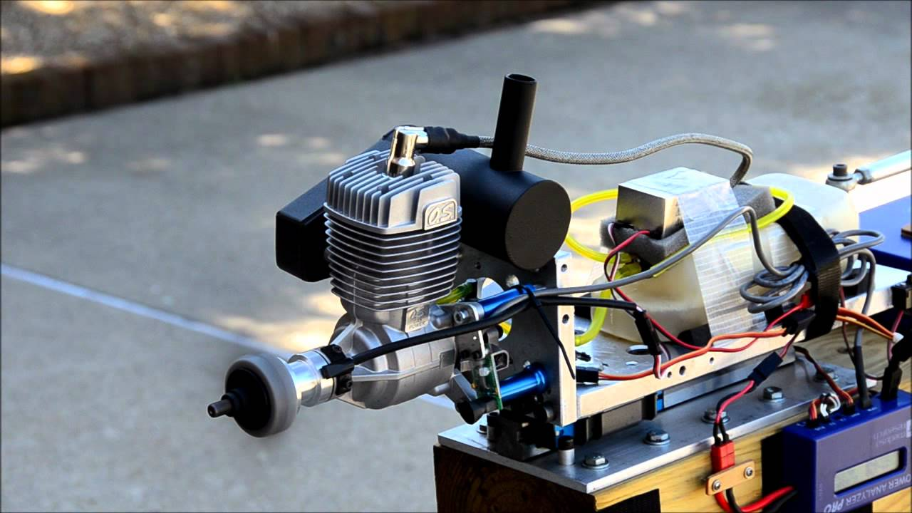 O S Gt33 Gasoline Engine Pc Controlled Thrust Test