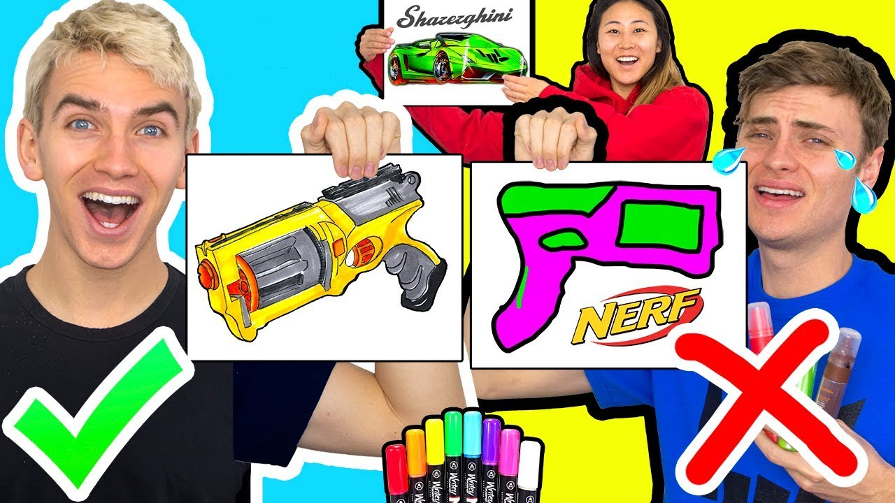 3 Marker Challenge With My Brother Nerf Edition Youtube