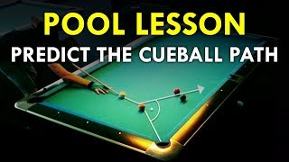 Pool Lesson | Calcขlate The Cue Ball Path Using The Tangent Line
