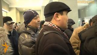 Активисты пришли в Нацбанк Казахстана