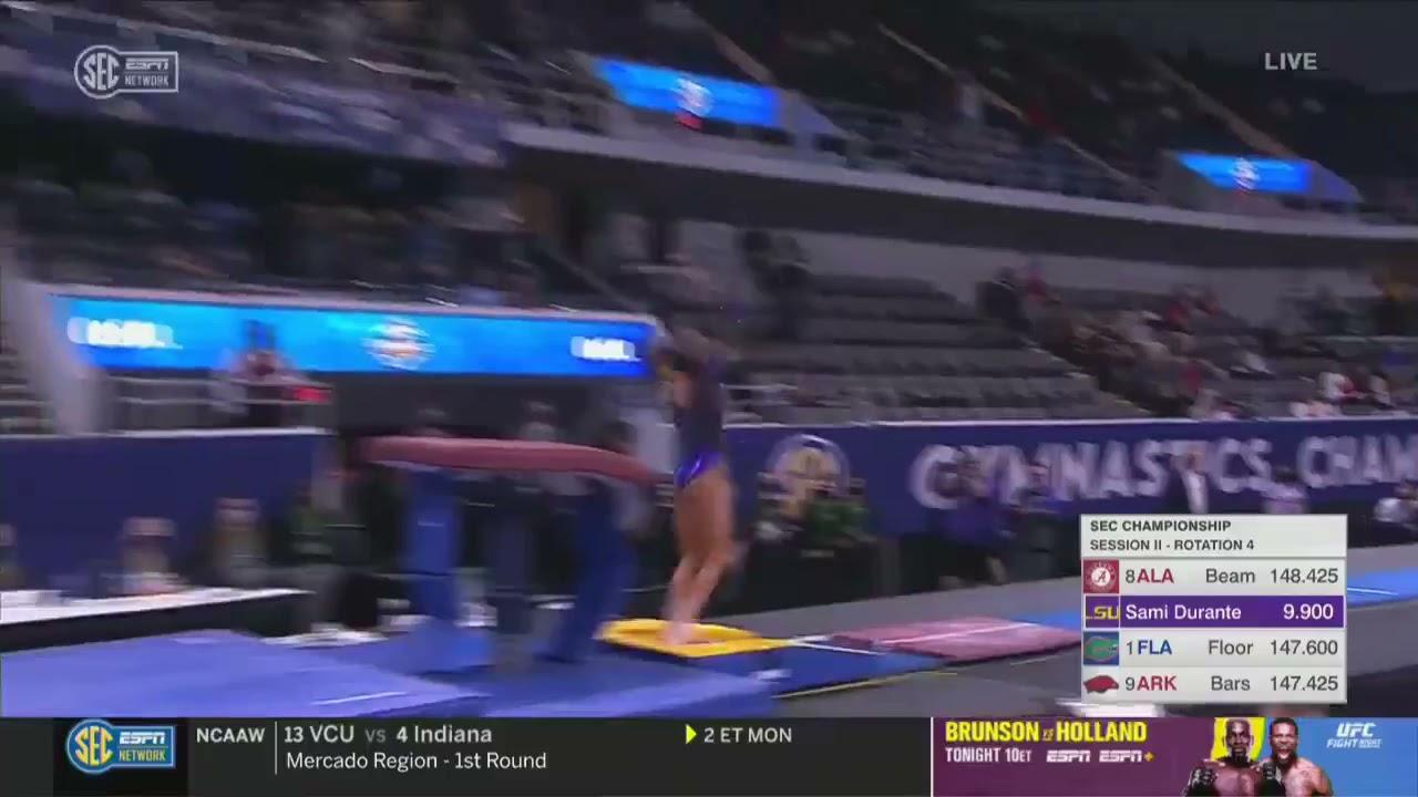 Alyona Shchennikova (LSU) 2021 SEC Championships - Vault 9.925