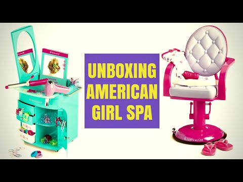 Unboxing American Girl Hair Salon