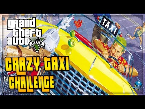 GTA 5 CRAZY TAXI - The Taxi Driver A.I. Challenge w/ the #GOONSQUAD