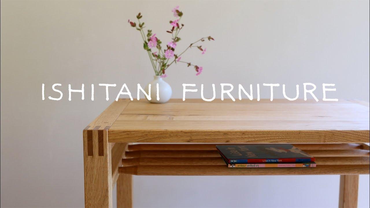 ishitani making a small table with a shelf