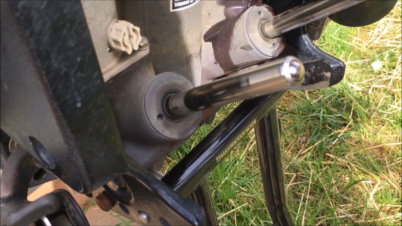 tilt trim motor install on mercury 205 optimax [ 1280 x 720 Pixel ]