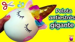 cortando-pelota-antiestres-gigante-unicornio-y-buscamos-sorpresas