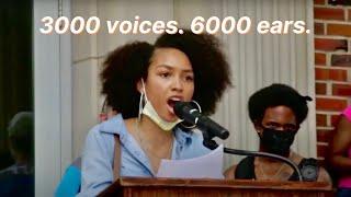 """""""3000 voices. 6000 ears."""" - A Black Lives Matter speech by Anya Dillard"""