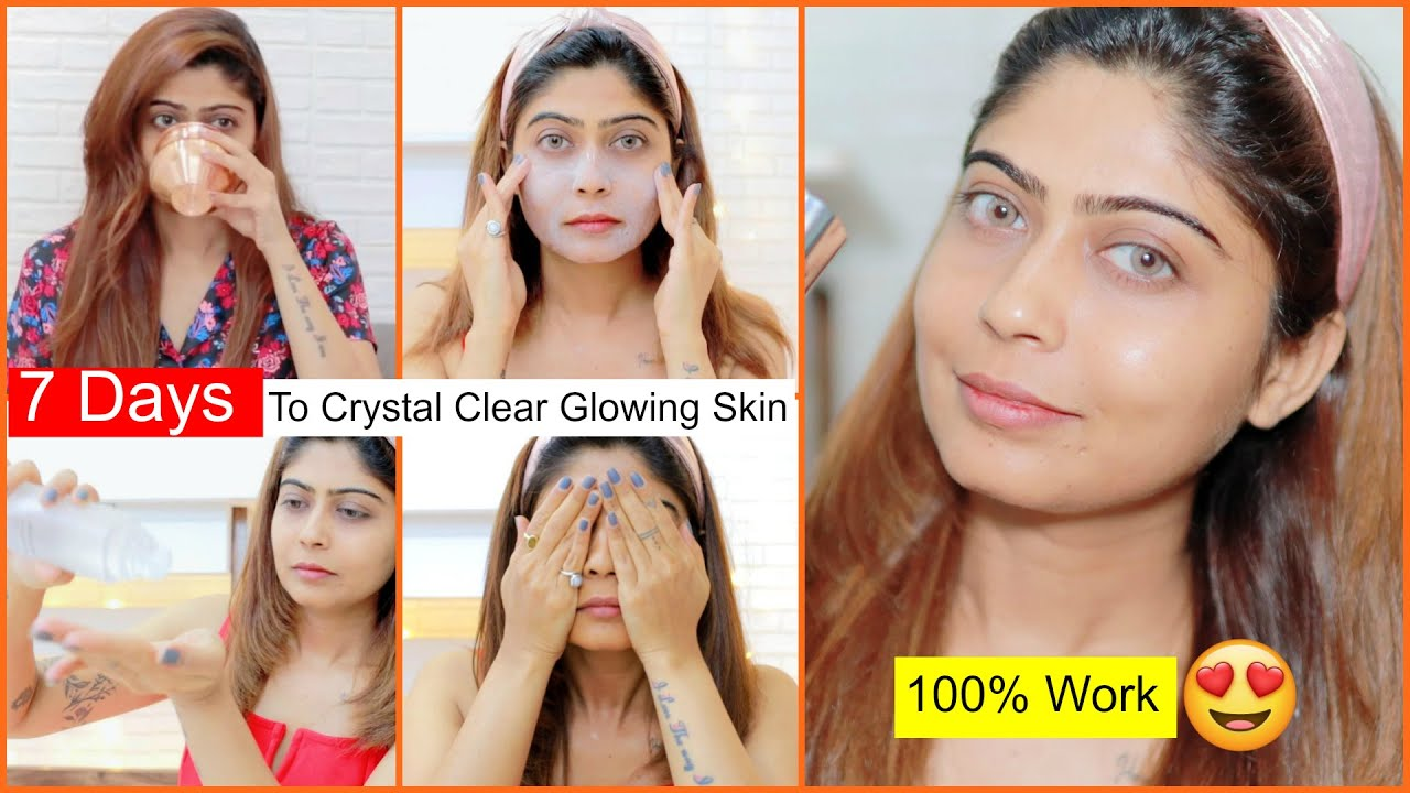 OMG! 7 DAYS To CRYSTAL CLEAR GLOWING SKIN | Rinkal Soni