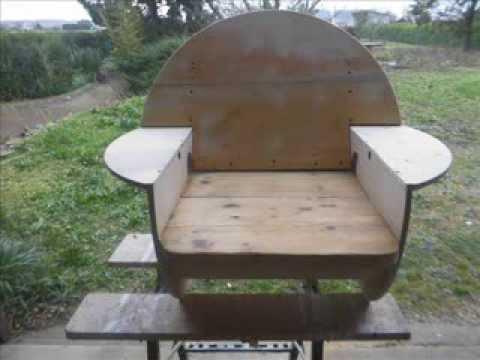 TOURET Recyclé en fauteuil - YouTube
