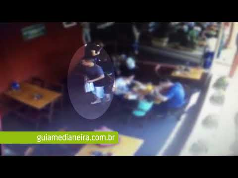 Medianeira: Sorria, você está sendo filmado; Câmeras flagram furto de celular em restaurante