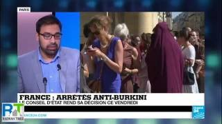 France 24 French: Ahmadiyya Muslim Asif Arif reacts to the Burkini Ban