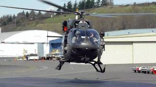 Eurocopter UH-72A Helicopter takeoff at KBFI Seattle