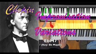 Chopin Nocturne Op 9 No 2 in E and Eb: Improvisation and Variations