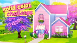 SOLID COLOR BUILD CHALLENGE 💖 // The Sims 4: Speed Build