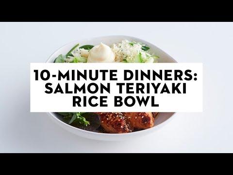 10-minute Dinners: Salmon teriyaki rice bowl   taste.com.au
