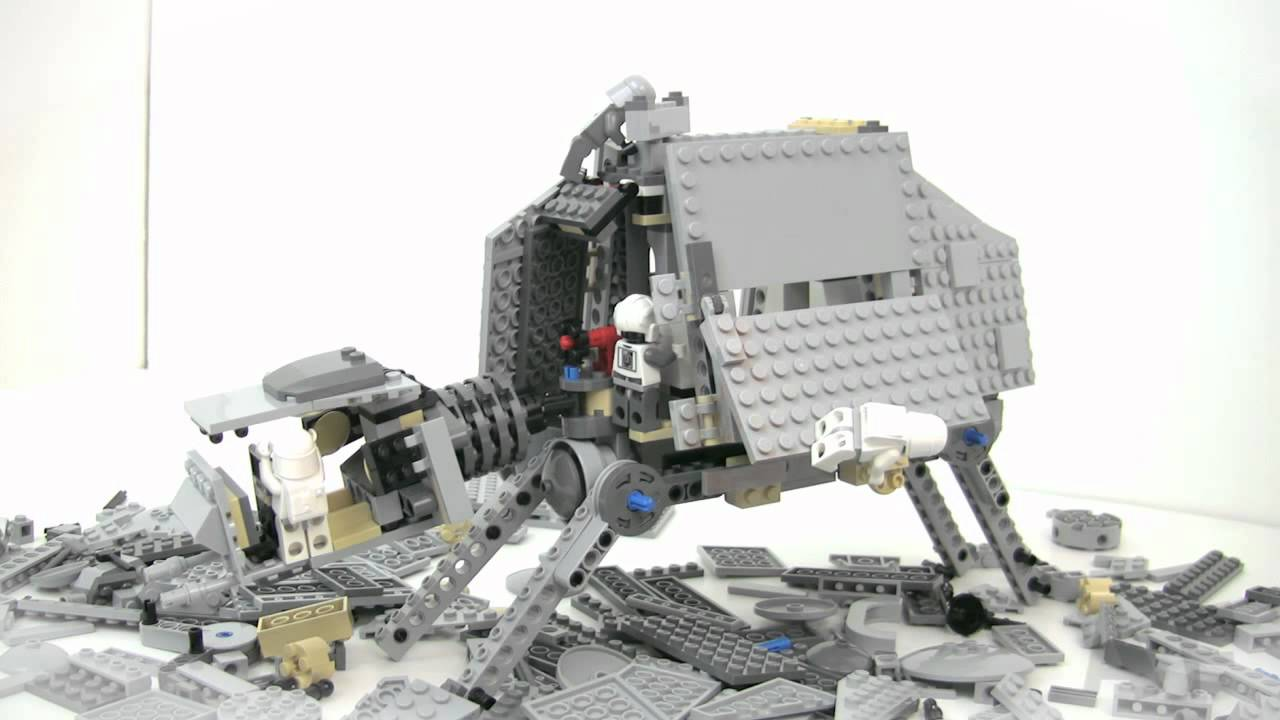 AT AT WALKER Lego Star Wars Stop Motion Review Set 8129 - YouTube