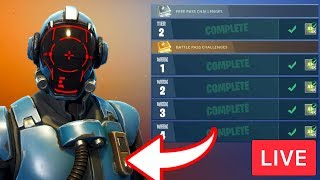 COMPLETING CHALLENGES FOR BLOCKBUSTER SKIN (Visitor) - Fortnite Battle Royale LIVE