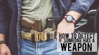 How To DETECT If Someone is CONCEALED CARRY