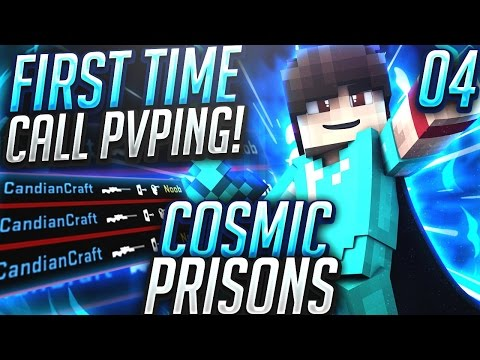 FIRST TIME CELL PVPING! + NEW CELL! | Minecraft COSMIC PRISONS #4 (CosmicPvP Sovereign Planet )
