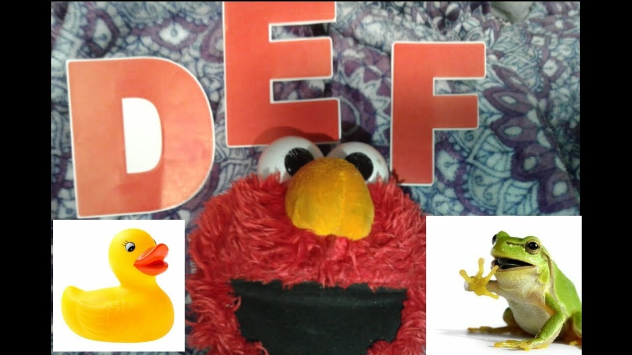 sesame street learning letters d e f with elmo duck elmo