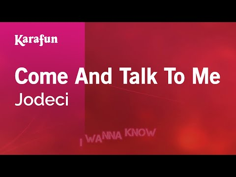 Karaoke Come And Talk To Me - Jodeci *