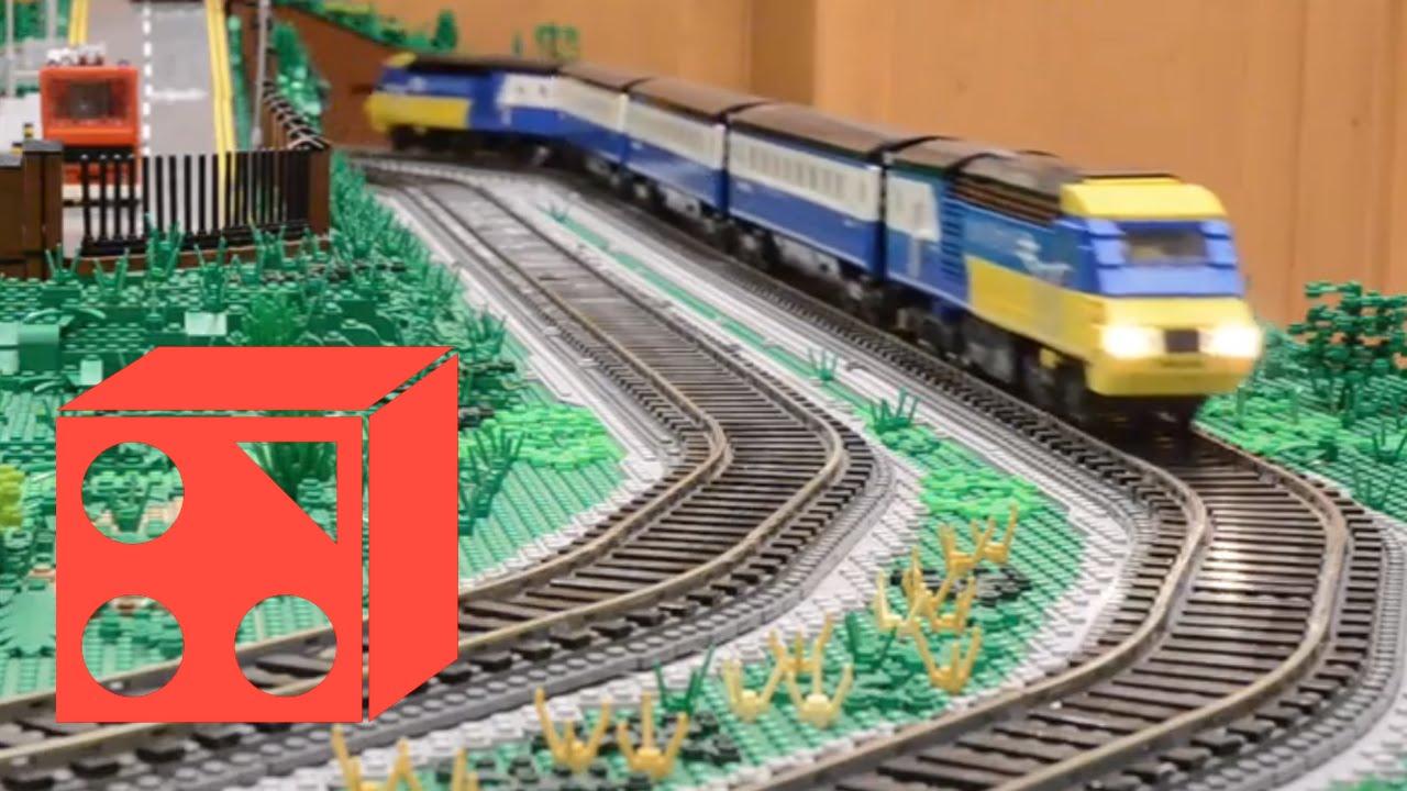 lego u00ae trains montage on fareham station layout  brickf u00eate