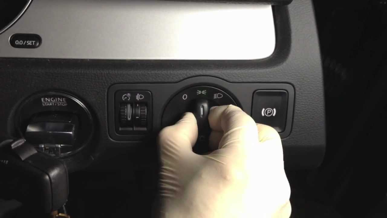 VW headlamp switch change quot How to quot YouTube
