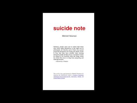 """Suicide Note"" 1.6.3.2 The Singularity... Does Logic Dictate..."