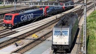 [FR/DE] Trafic ferroviaire/Bahnverkehr Muttenz (Basel Rangierbahnhof) + Basel Badischer Bahnhof -TPS