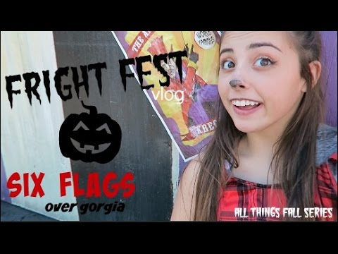 Fright Fest at Six Flags  Avery's Birthday! Vlog