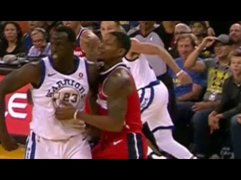 Draymond Green vs Bradley Beal - FULL FIGHT + ejections! (Warriors fans make fun of Beal)