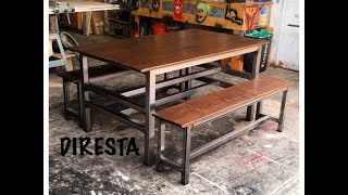 Diresta Matt Makes A Modern Steel/pine Table