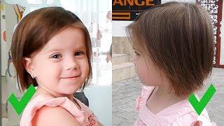 Лучшая СТРИЖКА для девочки 3 ГОДА на редкие волосы! Полина в парикмахерской ТЦ Атриум