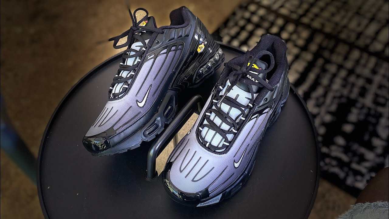 Nike Air Max Plus 3 Unboxing On Feet Black Wolf Grey Youtube