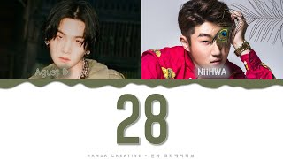Download Mp3 Agust D Feat. Niihwa - '28' Lyrics Color Coded  Han/rom/eng