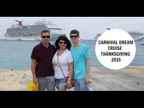 CARNIVAL DREAM THANKSGIVING 2015 CRUISE