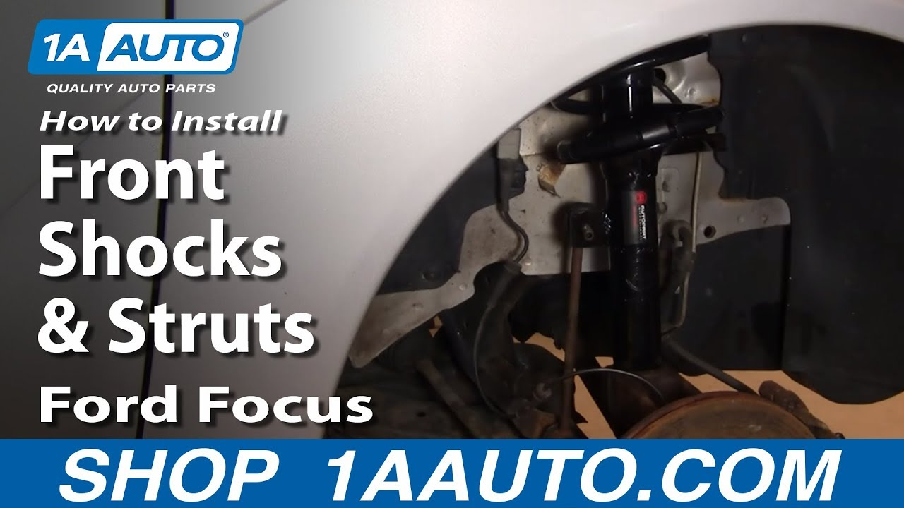 How To Replace Strut Assembly 00 05 Ford Focus Youtube