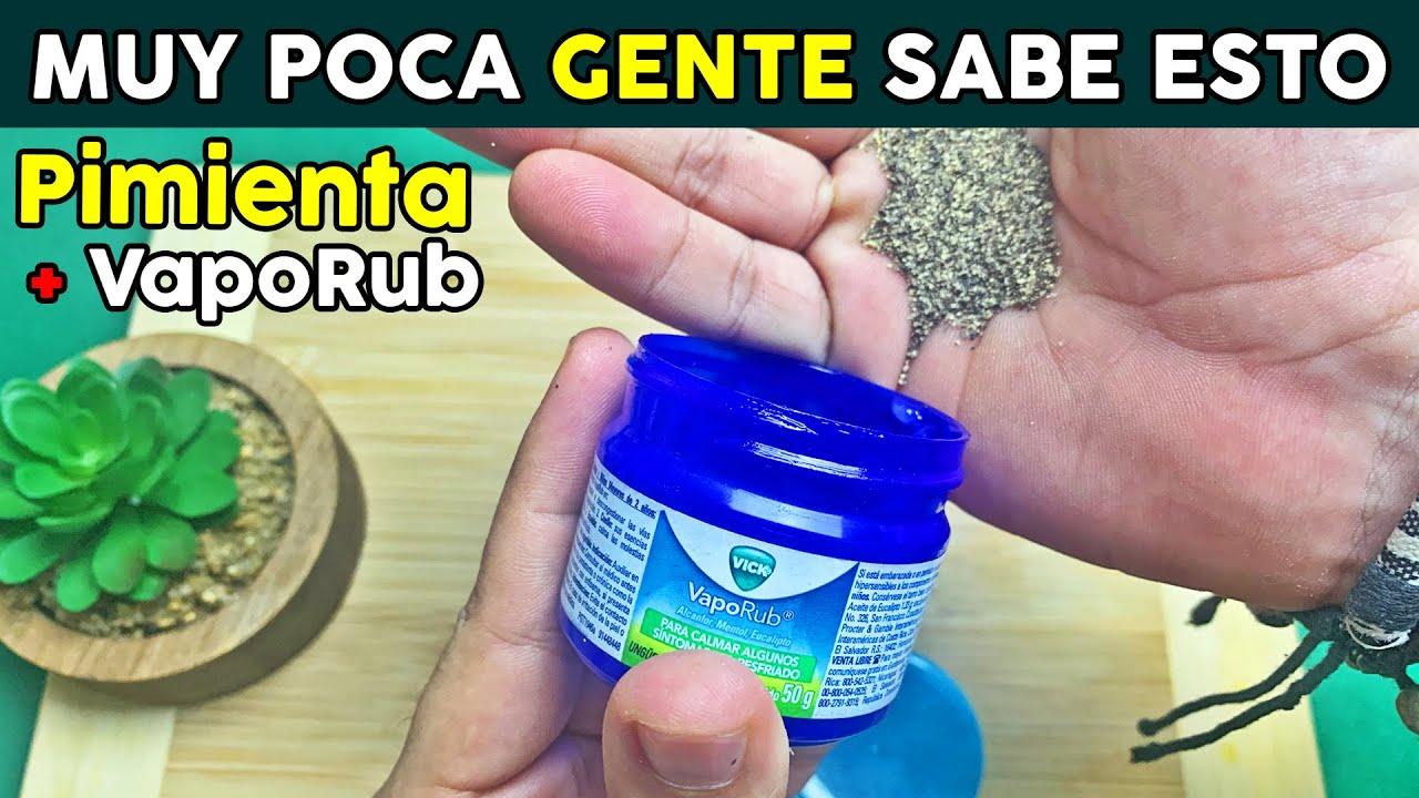Junta Un Poco De Vick VapoRub Con Pimienta Negra Y Me Agradecerás Siempre El Secreto